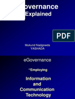 e-Governance Explained - Mukund Nadgowda