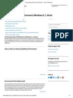 improving battery performance windows 8 7 vista   hp support