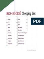 BTS Shopping List