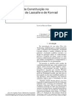 A essência da constituição no pensamento de Lassale e Hesse