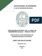 TESIS DE PROTECCIÓN ELÉCTRICA DE LA LÍNEA DE TRANSMISION JULICA 138KV