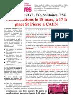 Manifestations Le 18 Mars Caen