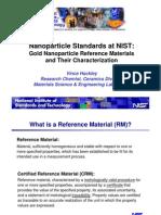 Nanparticla StanNdards NIST