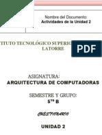 Arquitectura de Computadoras U2