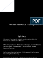 HRM PPT - Manpower Planning and Recruitment & Selection