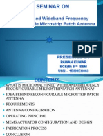 MEMS Based reconfigurable Patch antenna