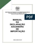 Manual Declaracao Aduaneira Importacao Vrs 1 Internet