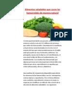 Alimentos Saludables Que Curan Las Hemorroides de Manera Natural