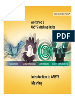 Mesh-Intro 14.0 WS-01 ANSYS Meshing Basics