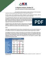 IEX Market Analysis - October