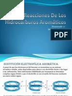 reacciones de los hidrocarburos aromáticos