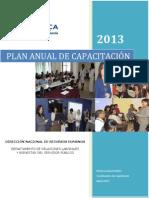 Plan Anual Capacitacion 2013