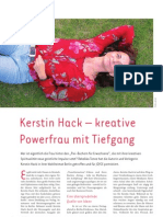 Portrait Kerstin Hack Kreative Powerfrau mit Tiefgang