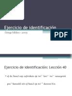 2009 - Ejercicio de identificación - Lección 40.pptx