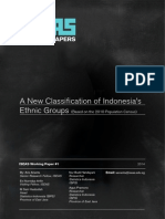 A New Classification of Indonesia's Ethnic Groups (Sensus 2010)