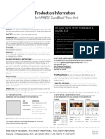 Where Guestbook Production Spec Sheet