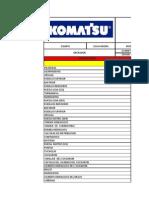 Lista de Chequeos (Practico) Komatsu