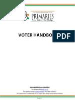 Indian National Congress Voter Handbook 290114