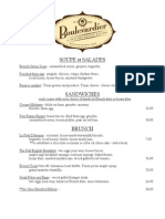 Boulevardier Brunch Menu
