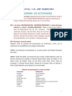 Programa Carnaval Ponferrada 2014