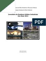 Inventrio Estadual de Resduos Slidos Da Indstria - 2013