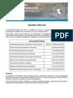 Congreso de Geologia - Segunda Circular XVII CPG 2014
