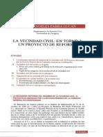Maria Angeles Parra Lucan-La Vecindad Civil en Torno a Un Proyecto de Reforma-1985