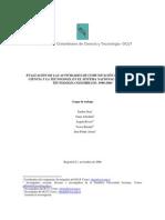 OCyT -Observatorio Colombiano de Ciencia Y Tecnologia (2006)
