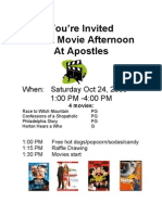 Apostles Movie Afternoon 10-24-2009