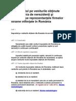 Impozitul pe veniturile obţinute din România de nerezidenţi şi impozitul pe reprezentanţele firmelor străine înfiinţate în România