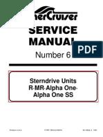 Mercruiser Service Manual 6 Outdrives R/MR/Alpha One/Alpha SS