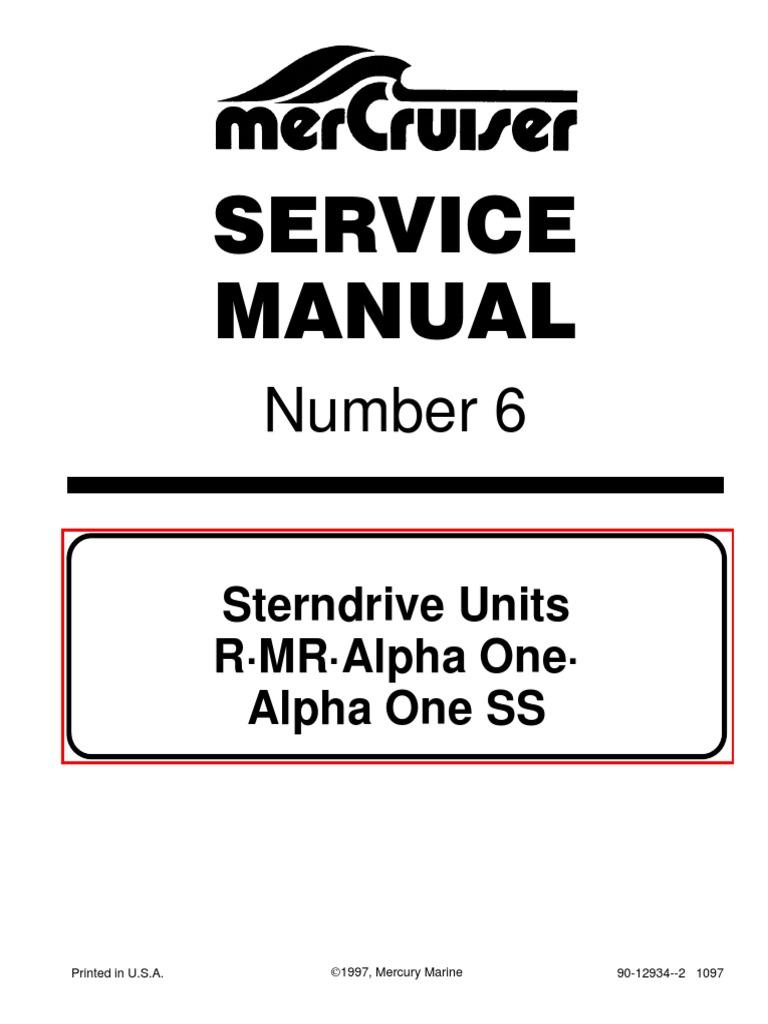 mercruiser service manual 6 outdrives r mr alpha one alpha ss rh scribd com 140 Mercruiser Kill Switch Diagram 140 Mercruiser Choke