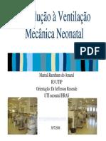 Introducao a Ventilacao Mecanica Neonatal