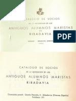 Catálogo  de ADEMAR Ribadavia 1962