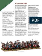 Warhammer Fantasy Kislev Allies Army List