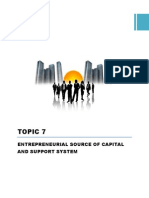 PB201 Topic 7 Entrepreneurial Sources of Capital N Support System (1)