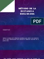Presentacion de Metodo de La Distancia Eucladiana