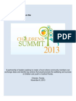 childrens summit community report