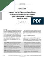 Dysphagia Capacitación y diagnóstico referido de confianza para la Gestión de la disfagia entre patólogos del habla y el lenguaje en las escuelas