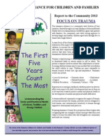 Alamance Alliance for Children and Families' Report to the Community 2013