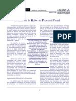 Avance de La Reforma Procesal en Chile