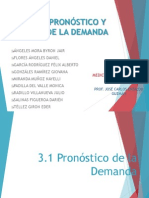 Unidad 3 PRONÓSTICO Y MEDICIÓN DE LA DEMANDA