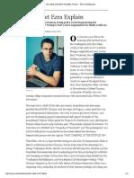 Ezra Klein on His New Vox Media Venture -
