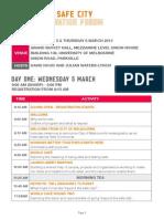 Beyond the Safe City Social Innovation Forum Program
