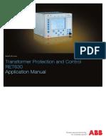 RET630 Application Manual