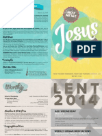 03.02.14 Genesis Bulletin | First Presbyterian Church of Orlando
