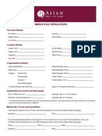 2014 Asian Hall of Fame Media Pass Application