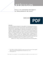 La política y su devenir histórico en el pensamiento de Kant - Roberto Rodríguez Aramayo