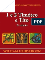 William Hendriksen - 1Ttimóteo 2 Timóteo e Tito