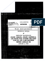 TM 9-1727B Engine Cooling, Engine Electrical and Engine Fuel Systems for Light Tank M5, Etc 1943